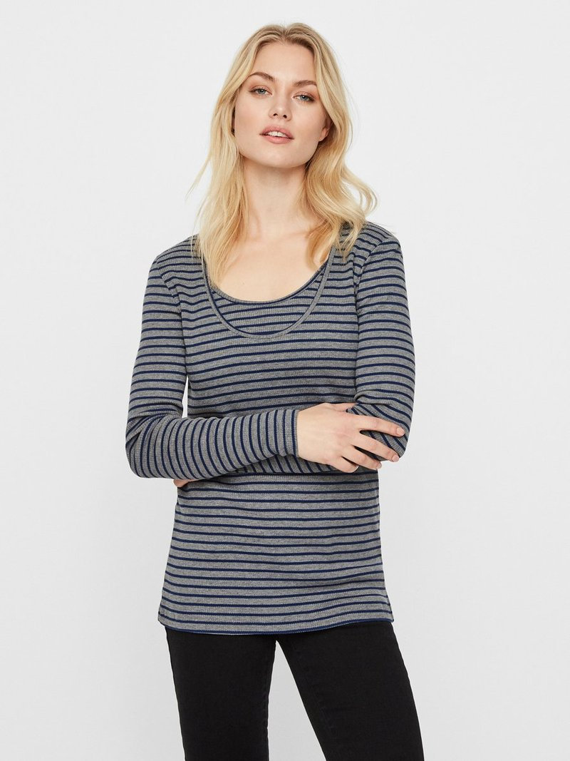 MAMALICIOUS - 2 PACK - Long sleeved top - estate blue