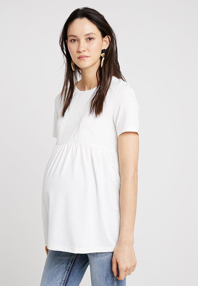 MLJACQUELIN - T-shirt z nadrukiem - snow white