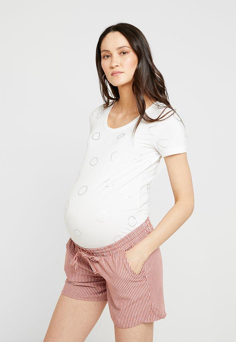 MAMALICIOUS - MLFOLEYCIRCLE - Camiseta estampada - snow white/silver