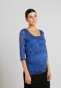 MAMALICIOUS - MLMIVANE JUNE - Camiseta de manga larga - mazarine blue - 0