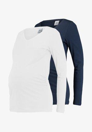 MLANNIA 2 PACK  - Longsleeve - navy blazer/snow white