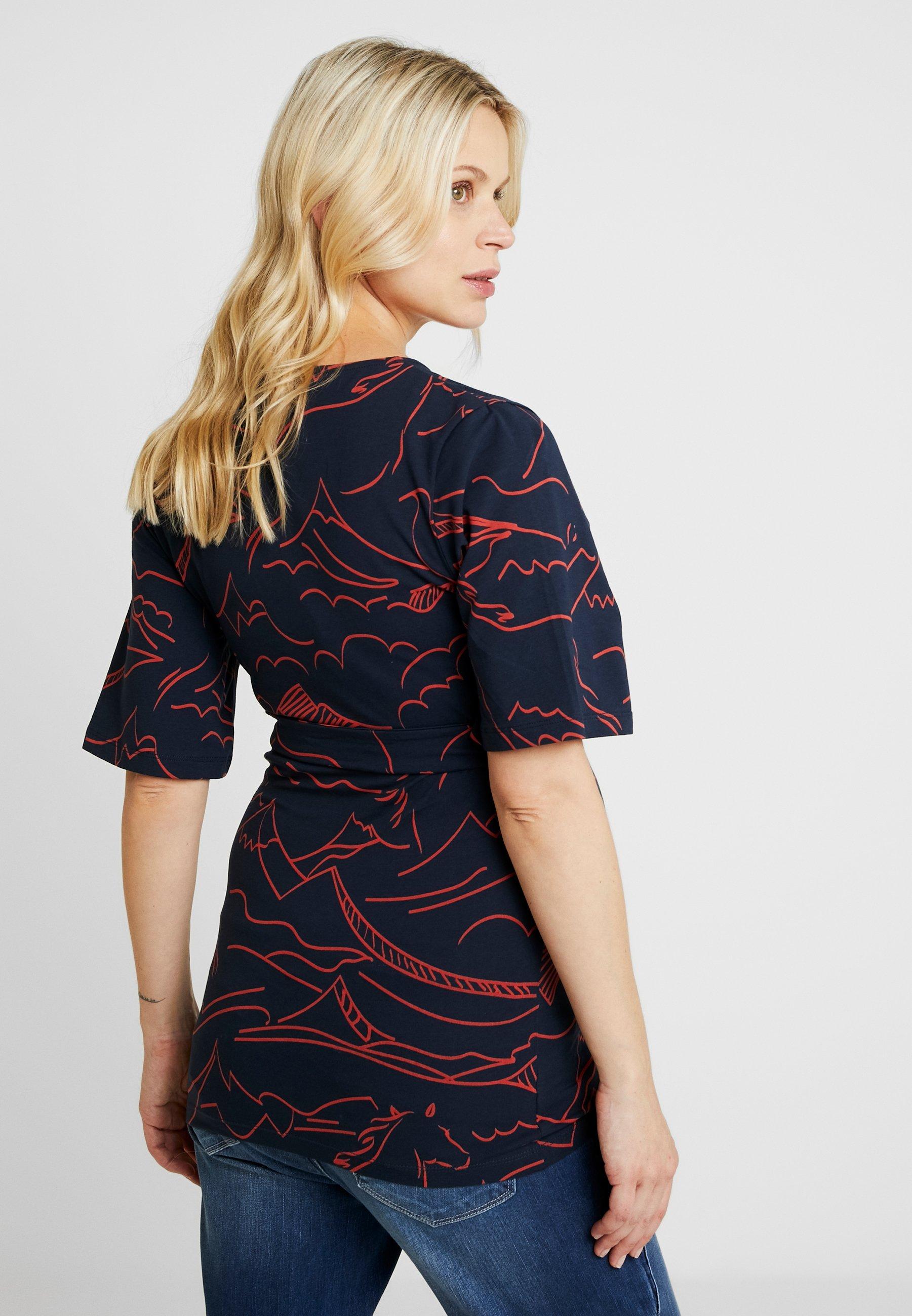 TessT Mljamaia shirt Navy Mamalicious Imprimé Blazer SUpqVzGM