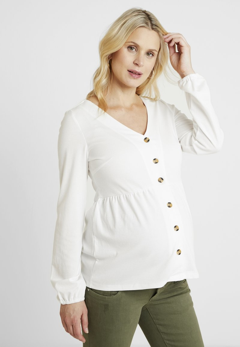 MAMALICIOUS - MLJUANA LIA - Long sleeved top - snow white