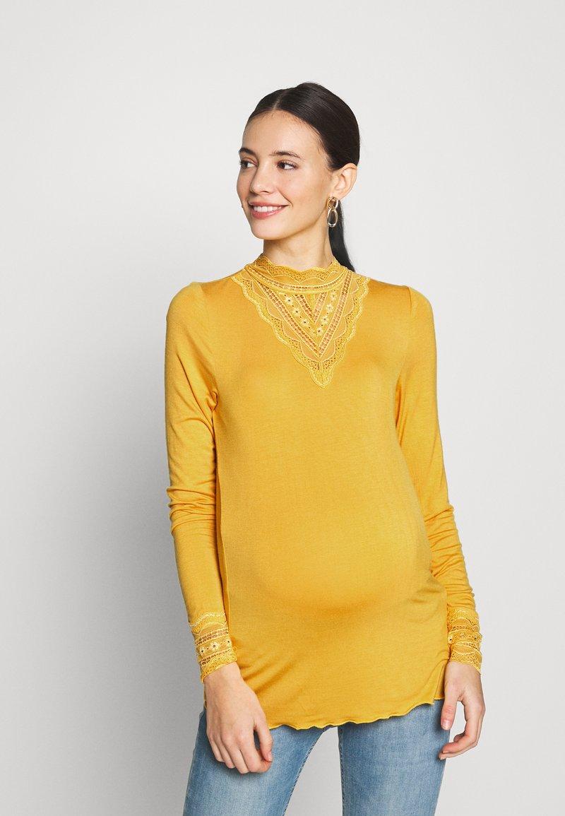 MAMALICIOUS - MLREESE - Camiseta de manga larga - golden apricot