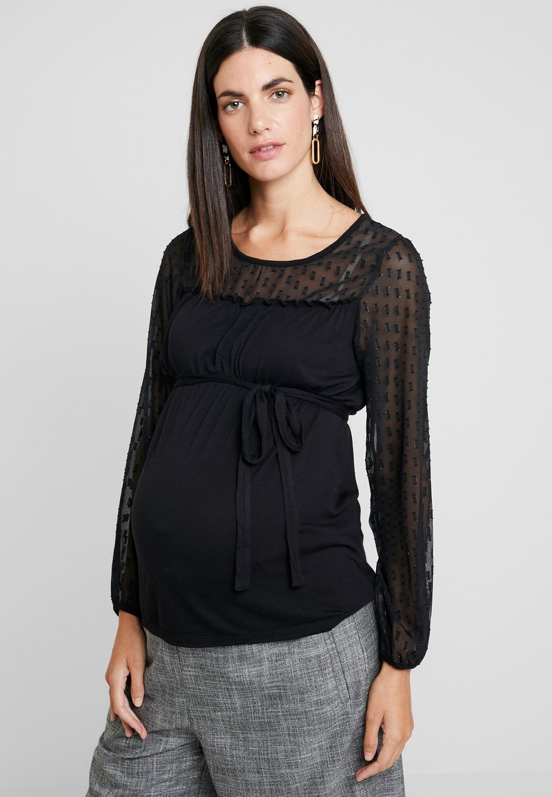 MAMALICIOUS - MLPATRICIA MIX - Long sleeved top - black