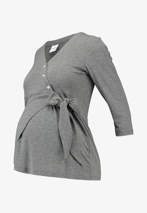 MLSTINNA TESS - Topper langermet - medium grey melange