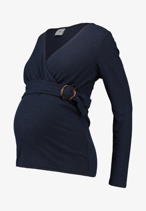 MLINAS TESS COMBI - Top sdlouhým rukávem - navy blazer
