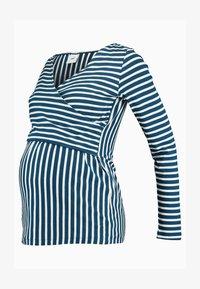 MAMALICIOUS - MLOTILIA TESS - Langærmede T-shirts - poseidon/snow white - 4