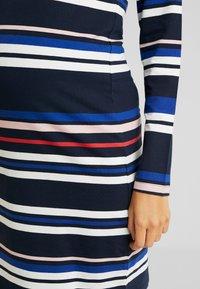 MAMALICIOUS - MLFANNY SHORT DRESS  - Vestido ligero - navy blazer/silver pink/molten lava - 4