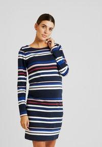 MAMALICIOUS - MLFANNY SHORT DRESS  - Vestido ligero - navy blazer/silver pink/molten lava - 0