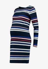 MAMALICIOUS - MLFANNY SHORT DRESS  - Vestido ligero - navy blazer/silver pink/molten lava - 3