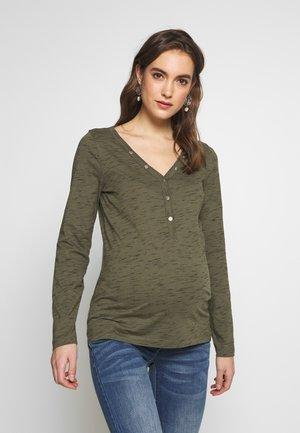MLANTHEA LIA - Camiseta de manga larga - dusty olive/black