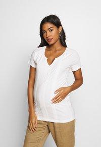 MAMALICIOUS - MLSABRINE - T-shirts print - snow white - 0