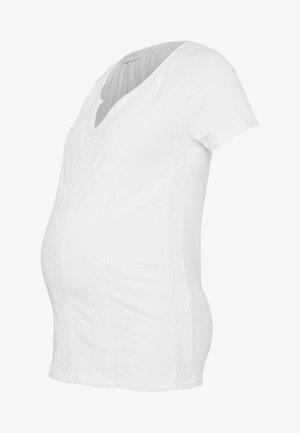 MLSABRINE - Camiseta estampada - snow white