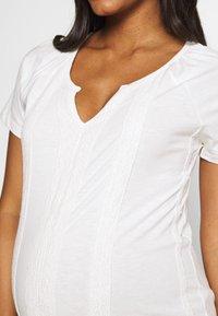 MAMALICIOUS - MLSABRINE - T-shirts print - snow white - 5