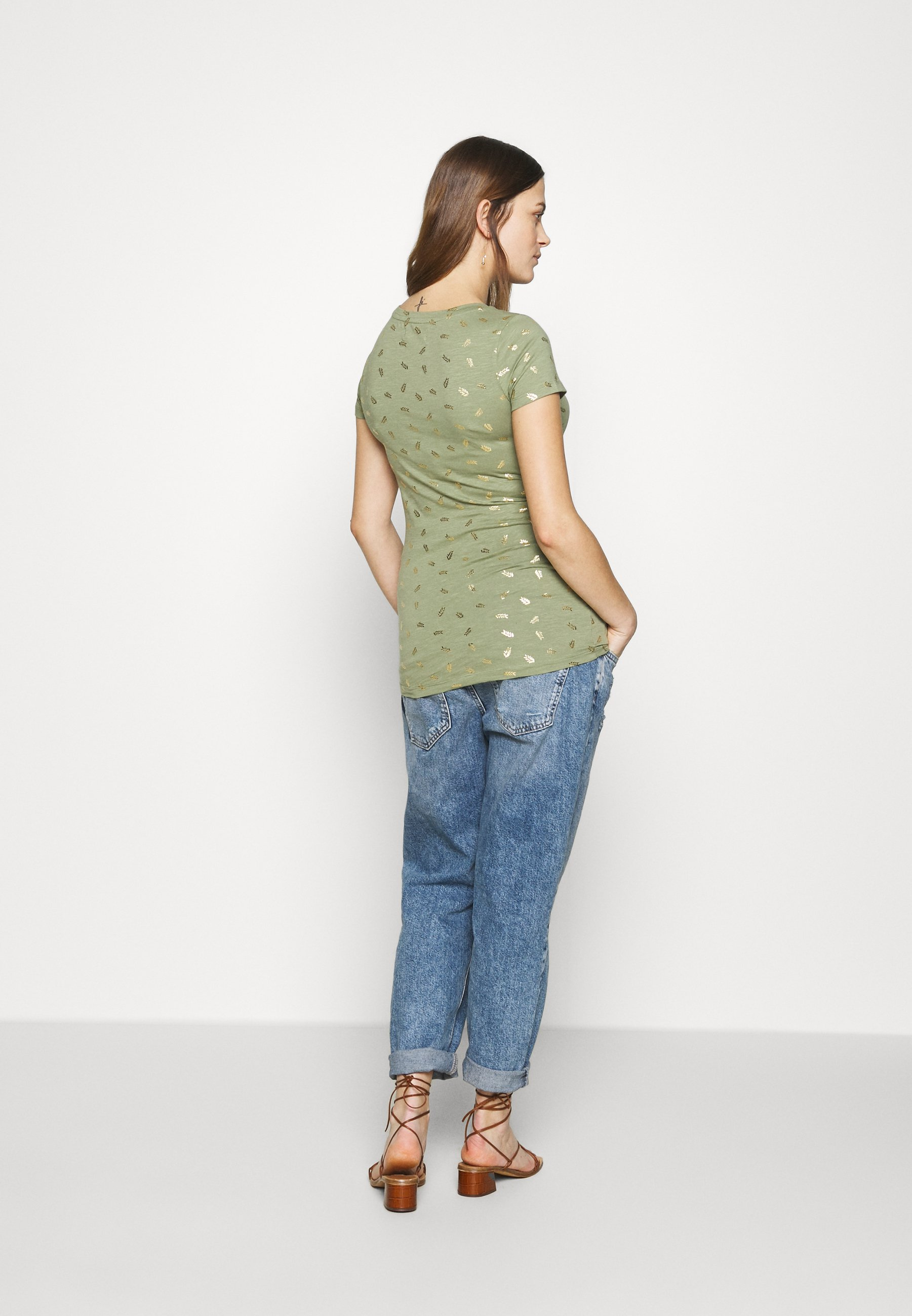 MAMALICIOUS MLMARTINE TOP  - T-shirts med print - oil green