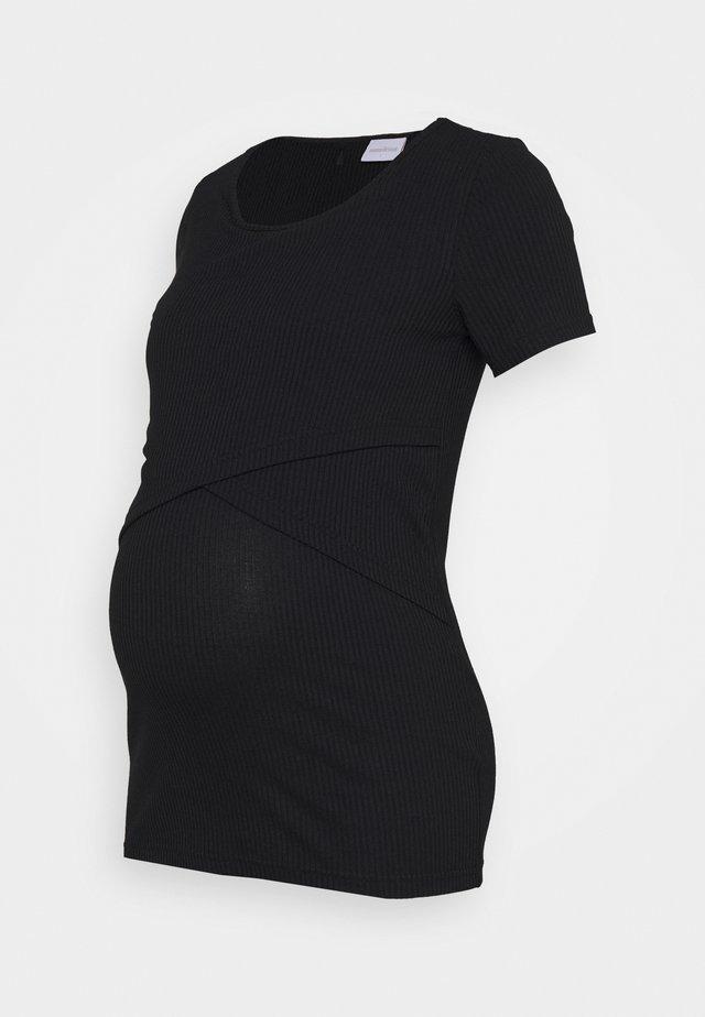 MLISABELLA - Jednoduché triko - black