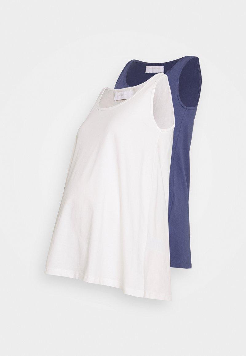 MAMALICIOUS - MLEVANA TANK 2 PACK - Top - crown blue/snow white