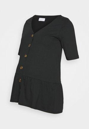 MLFLOR LIA - T-shirt z nadrukiem - black