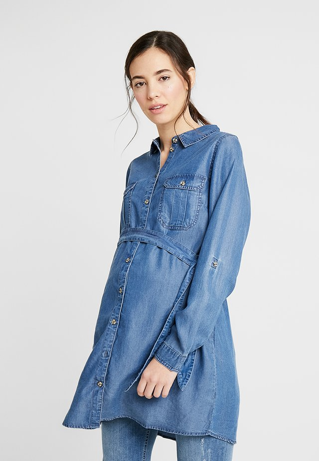 MLLYDIA - Button-down blouse - light blue denim