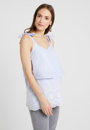MLLEILA JUNE - Bluse - snow white/blue