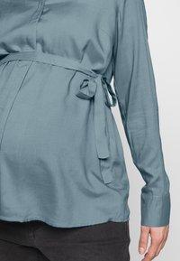 MAMALICIOUS - MLVERONIKA WOVEN  - Button-down blouse - ashley blue - 5