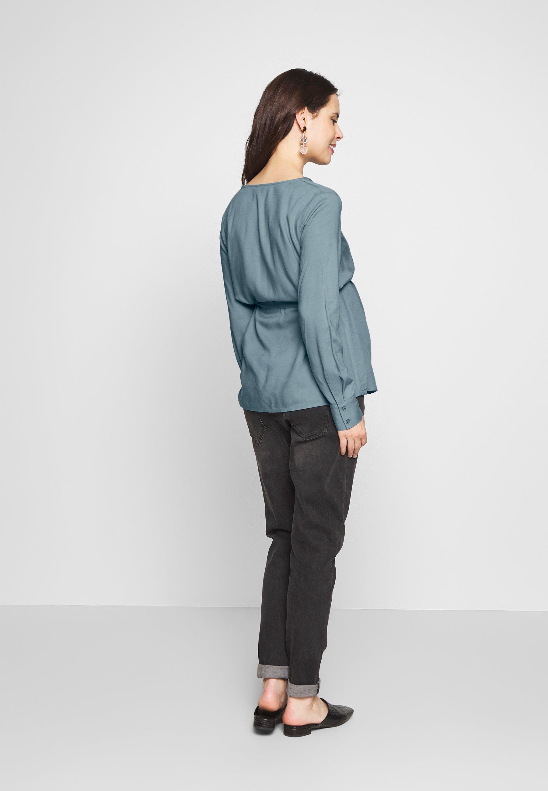 MAMALICIOUS MLVERONIKA WOVEN  - Skjorte - ashley blue