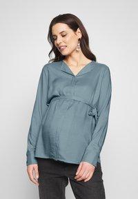 MAMALICIOUS - MLVERONIKA WOVEN  - Button-down blouse - ashley blue - 0