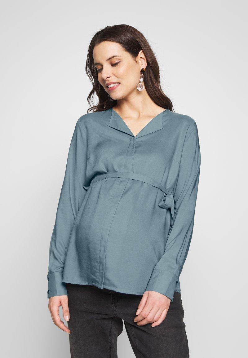 MAMALICIOUS - MLVERONIKA WOVEN  - Button-down blouse - ashley blue