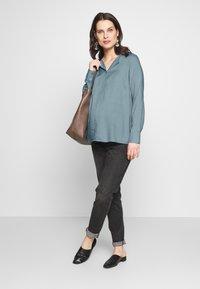 MAMALICIOUS - MLVERONIKA WOVEN  - Button-down blouse - ashley blue - 1