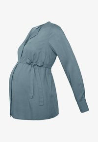 MAMALICIOUS - MLVERONIKA WOVEN  - Button-down blouse - ashley blue - 4