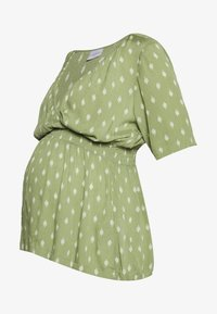 MAMALICIOUS - MLCEMILLE TESS - Blouse - oil green/snow white - 0