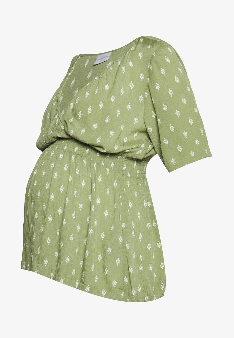 MAMALICIOUS - MLCEMILLE TESS - Blouse - oil green/snow white