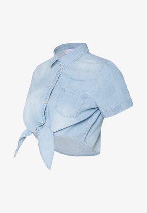 MLHAYLE CROPPED - Overhemdblouse - light blue denim