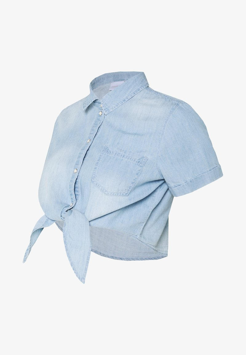 MAMALICIOUS - MLHAYLE CROPPED - Camisa - light blue denim