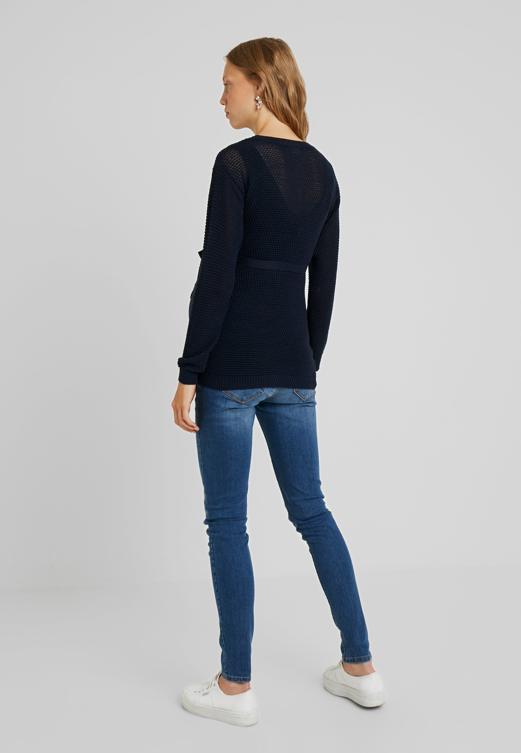 MAMALICIOUS MLCRYSTALINE - Sweter - navy blazer