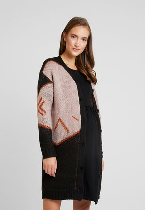 MLYOSELYN CARDIGAN - Vest - black/gingerbread/sphink