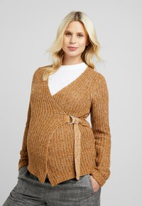 MAMALICIOUS - Vest - tobacco brown/snow white melange - 0