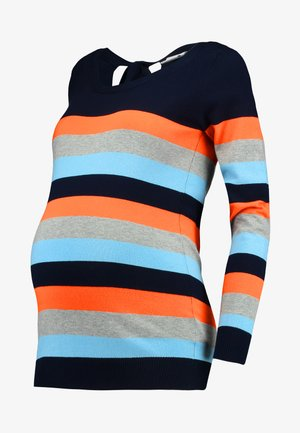 MLKENNA - Jersey de punto - navy blazer/tigerlilly ultra