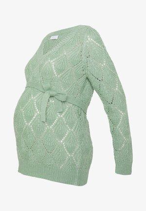 MLHALLA - Strikkegenser - frosty green