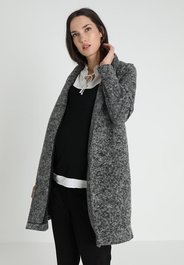MAMALICIOUS - MLFILIPPA COATIGAN - Halflange jas - medium grey melange