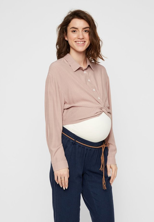 MAMALICIOUS UMSTANDSHEMD CROPPED - Button-down blouse - mellow rose