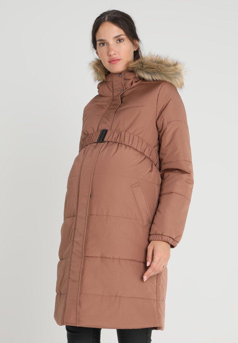 MAMALICIOUS - MLMAGGIE PADDED COAT - Short coat - nutmeg