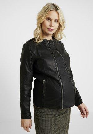 MLVINNIE BIKER  2IN1 JACKET - Faux leather jacket - black