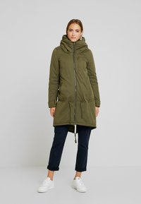 MAMALICIOUS - NEW TIKKA PADDED JACKET - Parka - olive night - 4