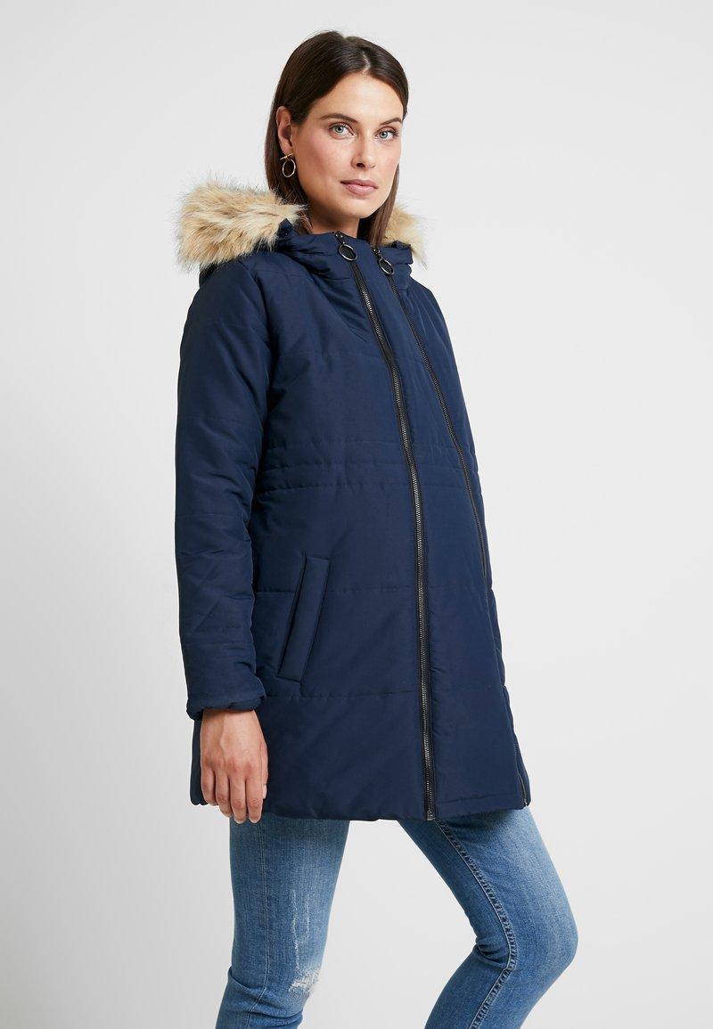 MAMALICIOUS - MLLEXI PADDED JACKE 3IN1 - Krótki płaszcz - navy blazer