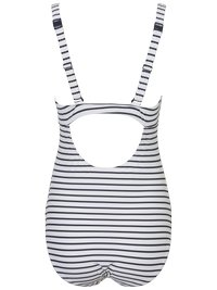 MAMALICIOUS - MLJOSEFINE STRIPY SWIMSUIT - Badedragter - snow white/black iris - 4