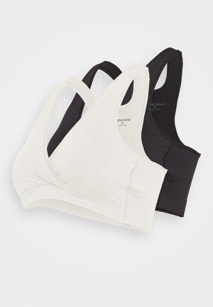 MLCROSSY BRA 2 PACK - Top - black/snow white