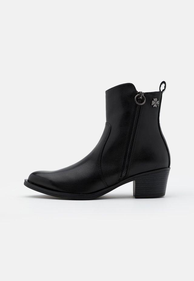 BOOTS - Cowboy- / bikerstøvlette - black antic