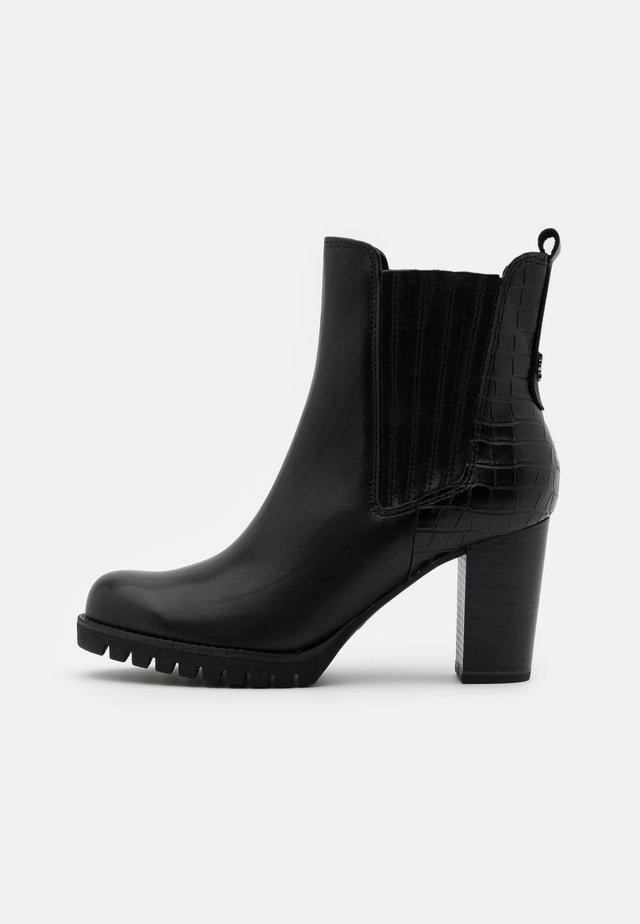 BOOTS - Højhælede støvletter - black